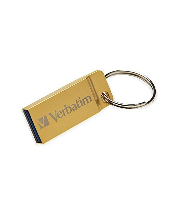 USB FLASH DRIVE  VERBATIM 16GB Metal Ex. Gold