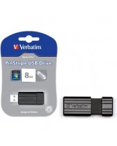 USB կրիչ 8GB VERBATIM 8GB PinStripe Black